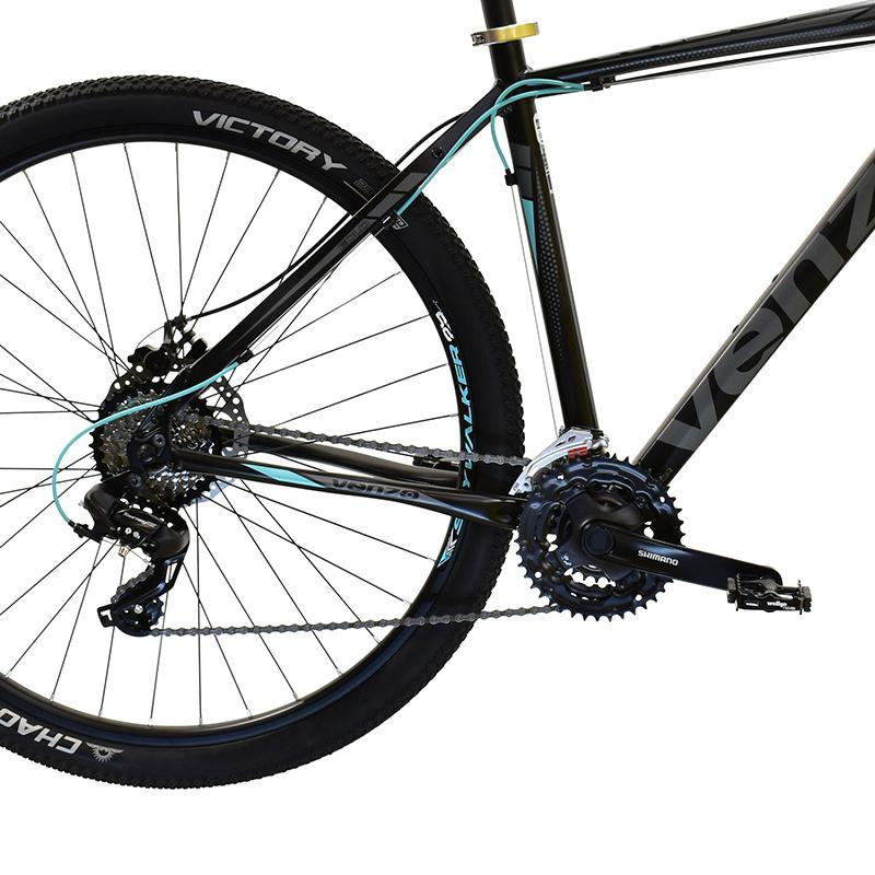 "Bicicleta R-29 Alum. 24v Venzo Eolo Shadow T20""l Negro-teal"