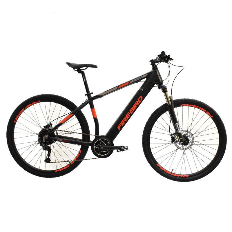 """Bicicleta R-29 Aluminio Fire Bird E-bike 9v T18""""m-negro Rojo"""