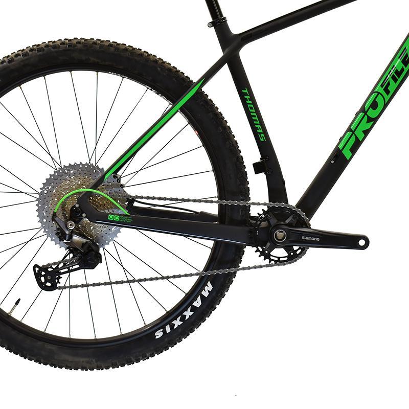 "Bicicleta R29 Carbono 12v Profile Thomas T19""l Negro/verde"
