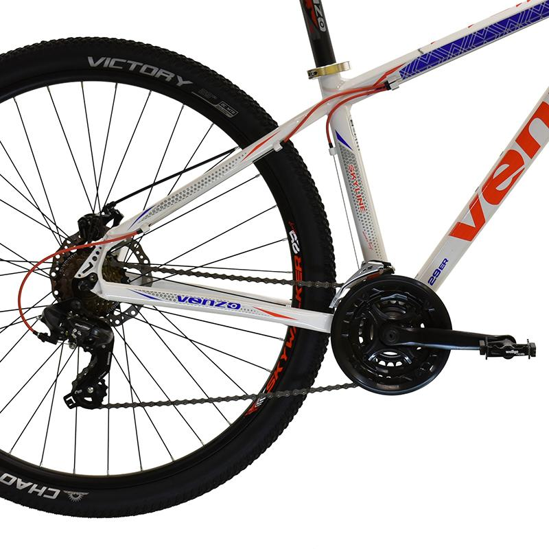 "Bicicleta R29 Alum 21v Venzo Skyline Evo T16""s Blanc Rojo Az"