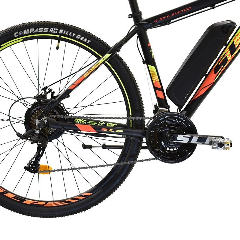 """Bicicleta R29 Alum. 21v Slp E-bike Em-1 T18""""m Negro Naranja"""